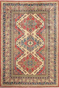 Geometric Kazak Pakistan Wool Rug 6x9