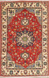 Floral Red Kazak Pakistan Wool Rug 3x4