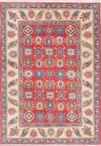 Red Super Kazak-Chechen Oriental Wool Rug 3x5