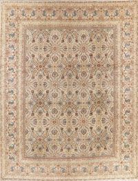 Antique Floral Kashan Persian Area Wool Rug 11x13