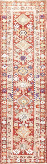 Vegetable Dye Oushak Turkish Oriental Wool Runner Rug 3x10