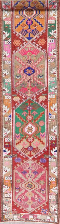 Vegetable Dye Oushak Turkish Oriental Runner Rug 3x13