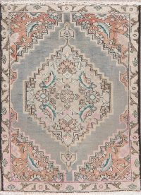 Geometric Grey Tabriz Persian Wool Rug 2x3