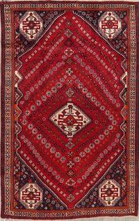 Vintage Red Shiraz Persian Area Rug 6x9