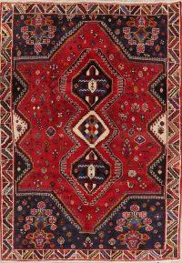 Tribal Red Shiraz Persian Wool Area Rug 6x9