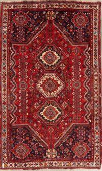Tribal Geometric Abadeh Persian Wool Rug 5x9