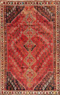 Vintage Tribal Red Lori Persian Wool Rug 6x9