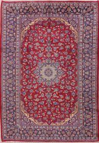 Vintage Floral Najafabad Persian Wool Rug 8x12