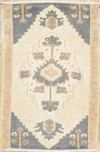 Vintage Geometric Oushak Turkish Oriental Wool Rug 2x3
