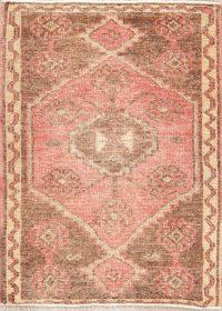 Geometric Oushak Turkish Oriental Wool Rug 2x3