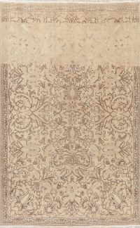 Floral Tabriz Muted Distressed Persian Area Rug 6x9