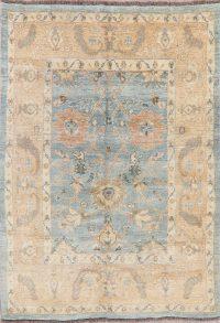Muted Distressed Oushak Turkish Oriental Wool Rug 6x8