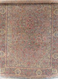 Antique Vegetable Dye Kerman Persian Wool Rug 16x27