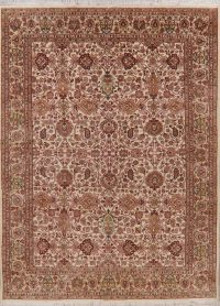 All-Over Ivory Floral Oushak Turkish Oriental Area Rug 8x11