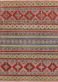 Multi-Color Super Kazak-Chechen Oriental Rug 5x7