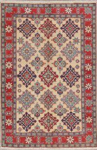Geometric Super Kazak-Chechen Oriental Rug 4x6