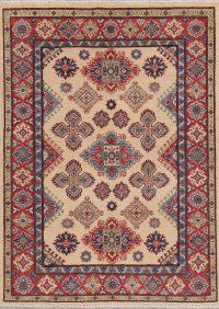 Geometric Super Kazak-Chechen Oriental Rug 5x7