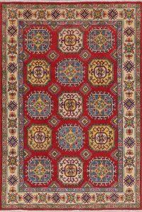 Red Super Kazak-Chechen Oriental Area Rug 5x7