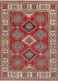 Red Kazak-Chechen Oriental Rug 5x7