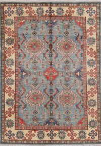 Light Blue Kazak-Chechen Oriental Rug 5x7