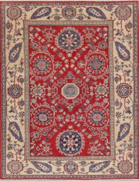 Red Kazak Pakistan Oriental Area Rug 5x7