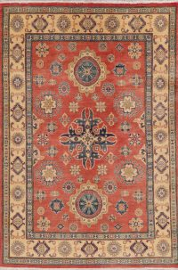 Red Kazak-Chechen Oriental Area Rug 5x8