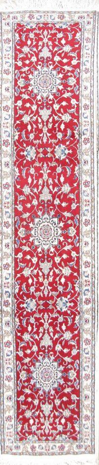 Floral Red 2x10 Nain Persian Rug Runner