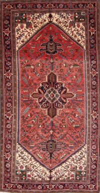 Vintage Geometric 5x10 Heriz Persian Area Rug