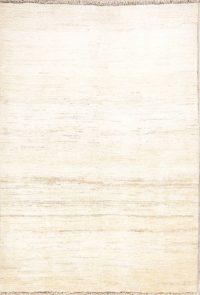 Gabbeh-Shiraz Persian Modern Ivory Area Rug 4x6