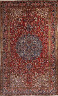 Antique Geometric Bakhtiari Persian Area Rug 11x18