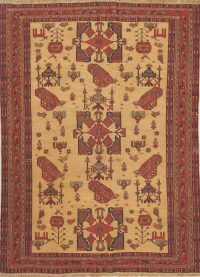 Tribal Sumak Kilim Shiraz Persian Wool Rug 4x6
