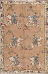Hunting Design Shiraz Persian Wool Area Rug 7x10