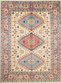 Geometric Kazak Pakistan Wool Rug 9x12