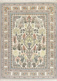 Floral Masterpiece Wool/Silk Isfahan Persian Rug 8x12