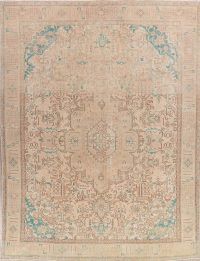 Tabriz Muted Distressed Persian Area Rug 9x12
