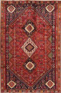 Vintage Tribal Geometric Kashkoli Persian Area Rug 6x9