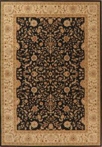 Floral Classic Black Turkish Oriental Area Rug 7x10