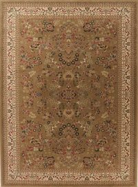 Brown Floral Classic Turkish Oriental Area Rug 8x11