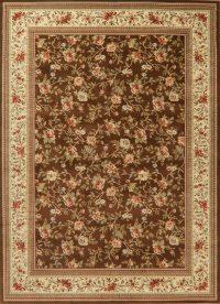 Floral Brown Aubusson Turkish Oriental Area Rug 8x11