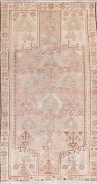 Vintage Muted Color Hamedan Persian Wool Rug 4x7