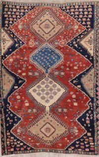 South-Western Vintage Abadeh Persian Wool Rug 4x6