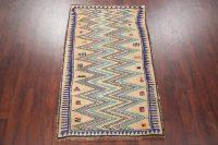 Vintage Tribal Gabbeh Shiraz Persian Wool Rug 4x6