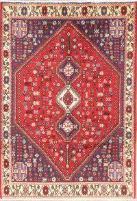 Tribal Geometric Abadeh Persian Wool Rug 3x5