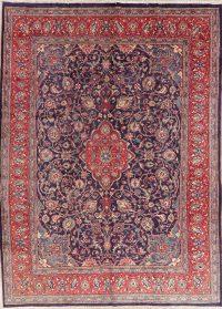 Vintage Navy Blue Floral Mahal Persian Area Rug 9x13
