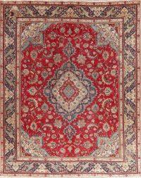 Vintage Floral Red Tabriz Persian Wool Area Rug 10x13