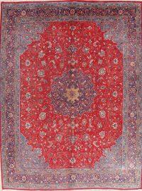 Vintage Floral Red Sarouk Persian Wool Area Rug 10x13