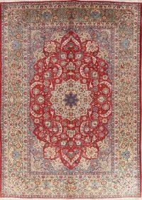 Vintage Red Floral Joshaghan Persian Wool Area Rug 10x14