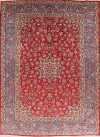 Vintage Floral Red Joshaghan Persian Wool Area Rug 10x14