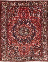 Vintage Red Bakhtiari Persian Wool Area Rug 10x13