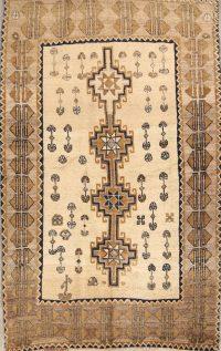 Gabbeh Qashqai Shiraz Persian Area Rug 4x6